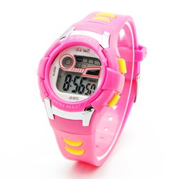 Wholesale Boys Lighting Watch - New Boys Kids Children Digital Sport Watch Alarm Date Chronograph 7 Colors LED Back Light Waterproof Wristwatch Student Clock