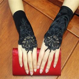 Deutschland 2018 neue Mode Bridal Gloves Fingerless Hochzeit Handschuhe für Hochzeitskleid elegante Prinzessin Short White / Elfenbein / Black Bridal Zubehör Versorgung