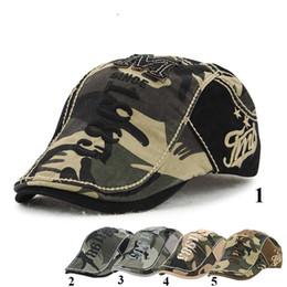 Wholesale Beret Hat Children - Unisex Spring Summer Camouflage Beret Hats for Women and Men Visor Cap