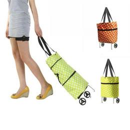 Sacos de compras com rodas dobráveis on-line-Atacado-Woweino Excelente Qualidade Folding sacolas de compras sacola com rodas reutilizáveis bolsas de compras bolsas femininas