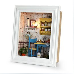 Wholesale Miniature Christmas - Wholesale- DIY Doll House model Building Kits Handmake Miniature Wooden Dollhouse Decorations Christmas and Brithday Gift -Reisurely Runch