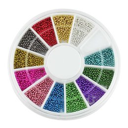 Wholesale Magic Candy - 12 Colors Wheel Nail Art Tools Magic Candy Color Design Caviar Beads Manicure Microbeads Decorations