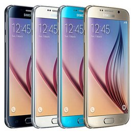 Wholesale Original Galaxy - Refurbished Original Samsung Galaxy S6 G920F G920A G920V G920T G920P 5.1 inch Octa Core 3GB RAM 32GB ROM 16.0MP Camera LTE NFC Phone DHL 1pc