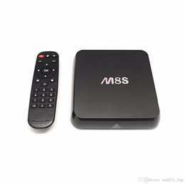 Wholesale Sd Cards 2g - Android 4.4 TV Box M8S Quad Core 8G 2G Amlogic S812 Dual WIFI Smart TV Box suport Bluetooth 4K SD Card