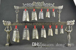 Wholesale Brass Chimes - Rare Old Collectible Decoration Copper Carve Classical Musical Instrument Chime
