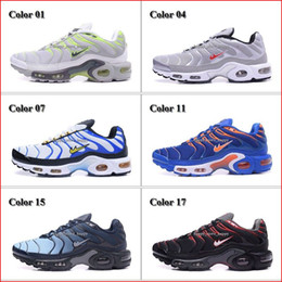 Wholesale Tn Sneakers - Cheap Hight Quality Men's Running Shoes Mens Air Sports TN Shoes Trainers Sneakers Black White Man Fashion Jogging Tennis Athletic Shoes