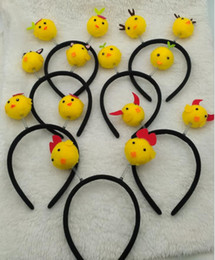 Wholesale Cartoon Yellow Hair - 2017 bestselling cute and lovely animal cartoon yellow chicken headband Spring head hoop hair ornaments apply to every one