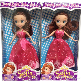 Wholesale Top Toys China - Top Quality 9.5 Inch Popular Girls Princess Sophia Sharon Doll Cute Cartoon Baby Toys Doll Great Kids Toys With Box