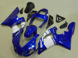 Wholesale 99 R1 Fairings - Free Gifts New motorcycle ABS Fairing Kits 100% Fit For YAMAHA 1998 1999 YZF-R1 98 99 YZFR1 98 99 YZF R1 YZFR1000 Nice color blue and white