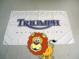 Wholesale File Printing - triumph motor flag , can custom print file,90X150CM size,100% polyster,triumph motor banner