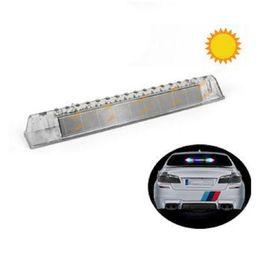 Wholesale Sticker Light For Car Window - 1Pc solar energy Car Truck Rear Tail Light Warning Lights Rear Lamps Waterproof Tailights Rear Parts for Trailer Truck Boat