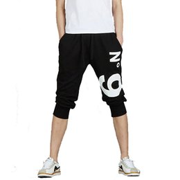 Wholesale Terry Pants For Boys - Wholesale- Hot Men'S Boy'S Sportwear Harlan Cropped Trousers New Men Pants Casual Trousers Men'S Sportwear Leisure Jogger Loose For Boy Z10