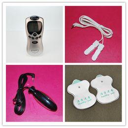 Wholesale Slimming Massager Sex - Electric Shock Therapy Slimming Massager Electro Shock Anal Plug & Nipple Clamps & Paste Massager E-Stimulation Kits Sex Toys q0506