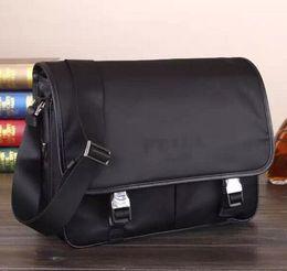 Wholesale Phones Computer Sales - 2016 Hot Sale Mens Shoulder Bag High Quality Mens Business Bag Luxury Brand Name Men Bag Real Leather Bag Free Shipping Shoulder Bag VA0768