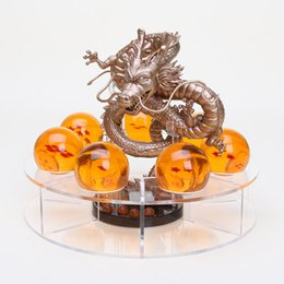 Wholesale Kids New Toys Arrivel - New arrivel dragon ball z action figures dbz dragonball z figures Anime esferas del shenlong dragon+7pcs PVC balls+shelf brinquedos kid toys