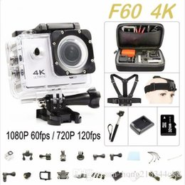 Wholesale Photography Lcd - F60 Wifi Action Camera 4K Extreme Mini Diving Cam go Waterproof pro Camera Sport DV sj4000 photography Free delivery