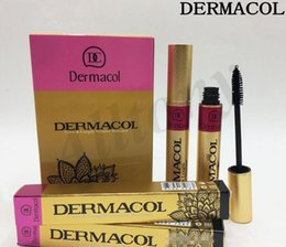 Wholesale Magic Dc - DERMACO Mascara care&length Volume Mascara Makeup Gold Makeup Eyelash Charming Eyes Magic Thick Slim dc Mascara