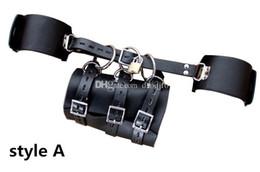 Wholesale Quality Leather Wrist Ankle - 2016 new top quality Leather Harness arm sex slave restraint bdsm belt,Sex Restraints Bondage Fetish Sex Toys for couples, adult Erotic toys