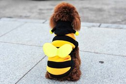 Wholesale Cosplay Costumes Cat - Estrella Cute Pet Clothes with Bee Wings Party Costume for Dog Cat Cosplay Suit for Pet Gifts Free Shipping