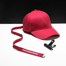 Wholesale Adjustable Belts For Men - Baseball cap Peaceminusone Long Strap Belt Snapback hats for men women brand hip hop golf dad caps sun sport visor curled peak