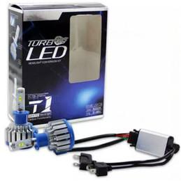 1set T1 7000LM Actualizar COB FARO TURBO T1 LED FARO H1 H3 H7 H8H9H11 9005/06 / 12 880 6000K 35W Reemplazar bombillas halógenas Faros de xenón desde fabricantes