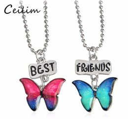 Wholesale Kids Jewelry Set Silver - Fashion Kids Children Jewelry Tortoise Butterflies Hippocampus & Starfish Pendant Necklace Best Friend Set Necklace To Send Sisters Gifts