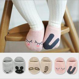 Wholesale Wholesale Soft Slippers - slipper socks for kids Toddler Baby Girls Cute Non-slip Asymmetrical animals fox rabbit cat panda mouth cartoon Socks Soft Socks 0-4Y
