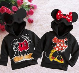 Wholesale Sweater Minnie - Wholesale- New Fashion Cute Kids Girls Boys Minnie Mouse Hooded Jacket Sweater Coat 1-6Y