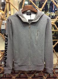 Wholesale Hoodie Jacket Xxl Size - Men Zip Up Grey Sweatshirt Fleece Hoodie Jacket Brand New size M L XL XXL