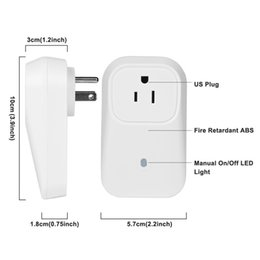 Wholesale Wireless Control Eu - Wholesale-Newest smart switch EU US UK Smart Home Socket timer Wireless WiFi Remote Control Plug Power Supply IOS Android,memory function