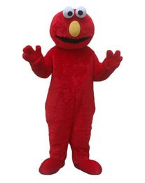 Wholesale Elmo Adult Mascot - Fast Free Shipping Sesame Street Blue Cookie Monster mascot costume Cheap Elmo Mascot Adult Character Costume Fancy Dress