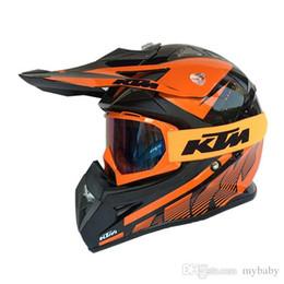 Wholesale Motorcycle Helmet Wholesale - The 2016 new STYLE KTM Motorcycle Helmet motocross Helmet autocycle helmet racing helmets knight off-road helmets bike helmets