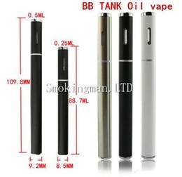 Wholesale Vaporizer Pen Black - Black White Color bbtank disposable e cigarette ecig vape pen disposable empty CE3 vaporizer CO2 Cartridge thick oil ce3 disposable