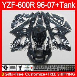 1996 yamaha обтекатель Скидка 8Gift 23Color Громокошку для Yamaha YZF600R 96 97 98 99 00 01 53HM21 и YZF-600р глянец черный YZF 600р 1996 1997 1998 1999 2000 2001 обтекателя Kit