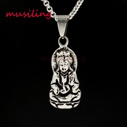 Wholesale Wholesale Goddess Jewelry - Virgin Goddess Stainless Steel Pendants Necklace Chain Pendulum Charms Reiki Amulet Fashion Charms Mens Jewelry musiling Jewelry