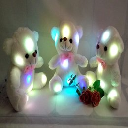 Wholesale Teddy Bear Wholesalers Quality - 2017 High Quality LED Night Light Luminous Teddy Bear Cute Shining Bear Plush Toys Baby Toys Birthday Gifts Valentines