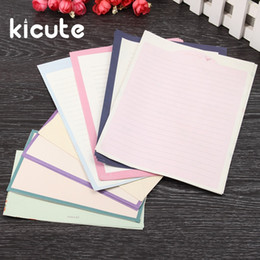 Wholesale Padded Envelope Wholesale - Wholesale- Kicute 4 Sheets Letter Paper And 2pcs Envelopes 1 Set Funny Flower Animal Letter Pad Set Writing Paper Set Office School Supply