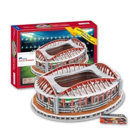 Wholesale Model Paper Toy - 3D Puzzle Stadium Model Sport Lisboa e Benfica SL Benfica Estadio da Luz Souvenir Football Pitch Paper Model Toys Decoration