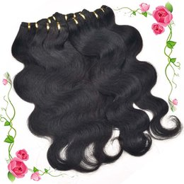 Wholesale Light Brown Remy Hair Weave - Malaysian Body Wave Bundles Hair Weave 6 Pieced lot 10-28 inch Non Remy Hair Extension 100% Human Hair Bundles