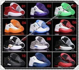 Wholesale Rubber Dynamics - 2017 China cheap air retro 12 women basketball shoes ovo white GS Dynamic white Pink Sports sneakers us size 5.5-13