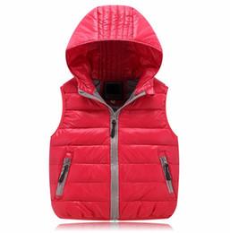 Wholesale Autumn Jacket Kids Girl - Hurave Children Unisex Vests Warm 2017 New Fashion Kids Winter Coats Cat Print Children Boys Girls Vest Hooded Jacket