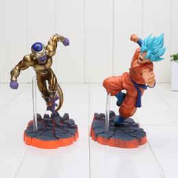 Wholesale Toy Son Goku - 14cm Dragon Ball Z Super Saiyan Goku Son Freeza Freezer Ultimate Form Anime Combat Edition PVC Action Figure Toys