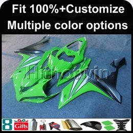 Wholesale Yamaha R1 Gold Fairings - 23colors+8Gifts Injection mold GREEN motorcycle cowl for Yamaha YZF-R1 2007-2008 07 08 YZFR1 2007 2008 07-08 ABS Plastic Fairing