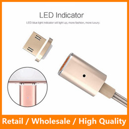 Wholesale Magnetic Charger Blackberry - Magnetic Charging Cable Mirco USB Weave Sync Cable Fast Charger Cable for Android Phone Samsung s7 s7 edge HTC Phone Charger