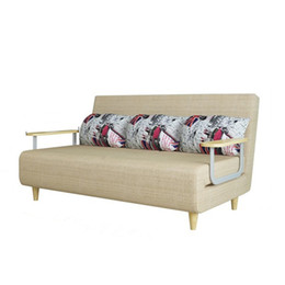 Wholesale sofa backrest - Transformable Sofa Bed Furniture, Compact Small Sofa Bed with Rubber Frame Armrest and Feet Adjusting Backrest F01D3 197*150cm