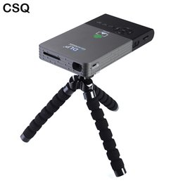 Wholesale C2 Android - Wholesale- CSQ 5000MAH Battery Winata C2 Mini Projector DLP Wifi Portable Smartphone Full HD Projector Android Bluetooth Proyector HDMI-out