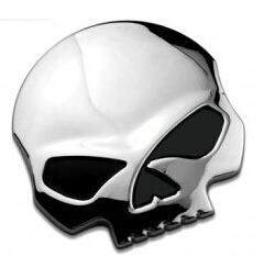 Wholesale Cars 68 - 3D 68*70mm Skull Metal Skeleton skull Car Motorcycle Sticker Label Skull Emblem Badge car styling stickers accessories decal