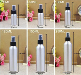 Wholesale Essential Oil Spray - Empty Metal Aluminum Spray Bottles Containers Perfume Metal Container Essential Oil Bottle with aluminum mist sprayer pump
