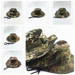Wholesale Mens Cotton Beanies Hats - 5 Colors Tactical Airsoft Sniper Camouflage Beanies Militares Army Mens Military Hiking Hats Summer Fishing Caps CCA6966 50pcs