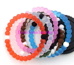 Wholesale Hot Balance Silicone Bracelet - 2017 new hot sale charm bracelets pink blue black white silicone balance bracelet S M L XL 55 colors wholesale silicone bands with tag